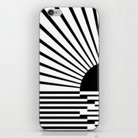 Black rays iPhone & iPod Skin