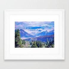 Neverland mountains Framed Art Print