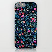 Teeny Tiny Floral Black iPhone 6 Slim Case