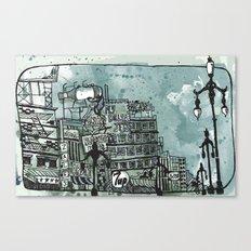 Gloomy Cityscape Canvas Print