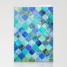 Cobalt Blue, Aqua & Gold… Stationery Cards