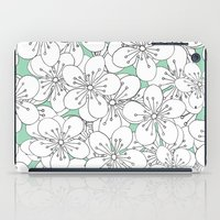 Cherry Blossom With Mint… iPad Case