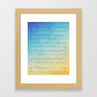 Watercolor Music Framed Art Print