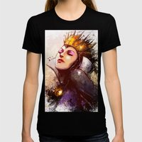 Evil Queen Womens Fitted Tee Black SMALL