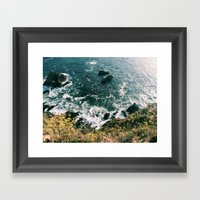 Kirk Creek, Big Sur Framed Art Print