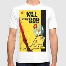Kill Spongebob White Mens Fitted Tee SMALL