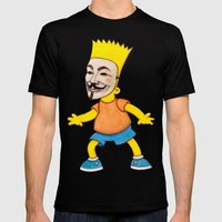 Anonymous Mens Fitted Tee Black SMALL
