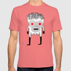 cardboard man Mens Fitted Tee Pomegranate SMALL