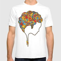 Musical Mind Mens Fitted Tee White SMALL