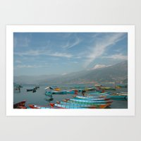 Phewa Lake Art Print