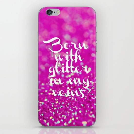 Glitter in my Veins II (Photo of Glitter) iPhone & iPod Skin