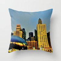 Chicago Bean Throw Pillow