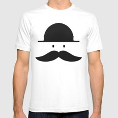 mustache SMALL Mens Fitted Tee White