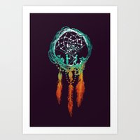 doctor Art Prints featuring Dream Catcher (the rustic magic) by Picomodi