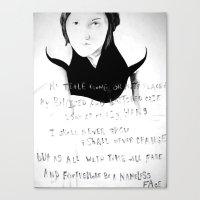 Nameless Canvas Print