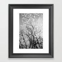 Nothing Written in the Sky Framed Art Print