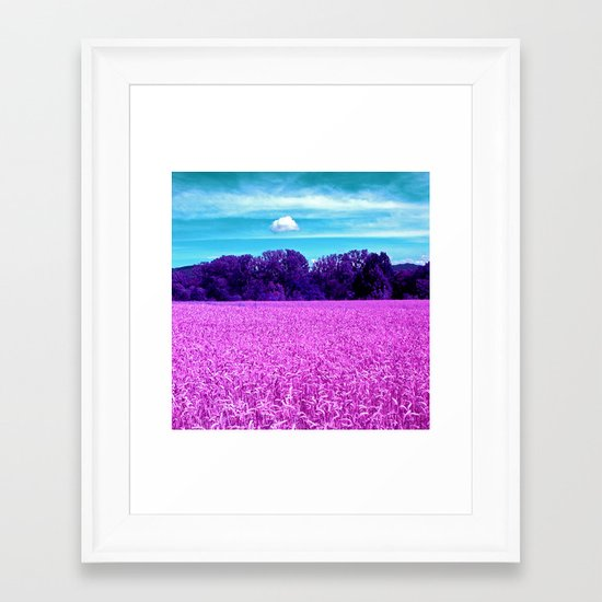 purple corn field I Framed Art Print