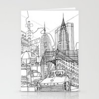 New York! B&W Stationery Cards