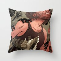 Escape From New York Poster Throw Pillow