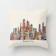 Kansas City Missouri Sky… Throw Pillow