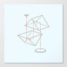 Prisms & Lenses - Binocular Canvas Print