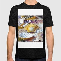 Shells Mens Fitted Tee Tri-Black SMALL