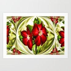 Exotic Flower Unrap Art Print