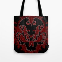 Killer Skull Red Tote Bag