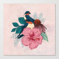 Canvas Print featuring Barn Swallows by Mat Miller