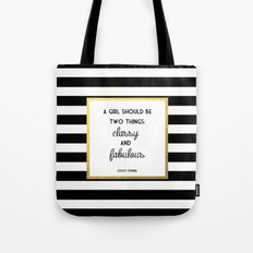 Coco Gold Classy & Fabulous Gold Print Tote Bag