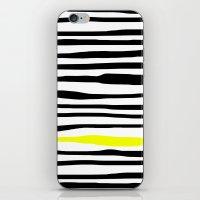 Neon Zebra Stripes iPhone & iPod Skin