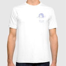 Being is Strange, But Wonderful Too SMALL Mens Fitted Tee White