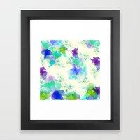 Printed Silk Ocean Spray Framed Art Print