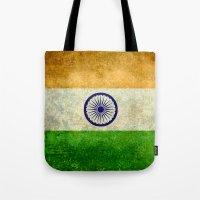 Flag Of India - Retro St… Tote Bag