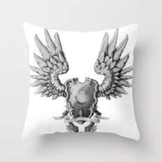 FF14 - Chocobo / materia coat of arms Throw Pillow