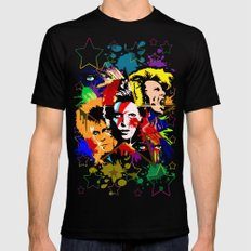 Bowie PopArt Metamorphosis Mens Fitted Tee Black SMALL