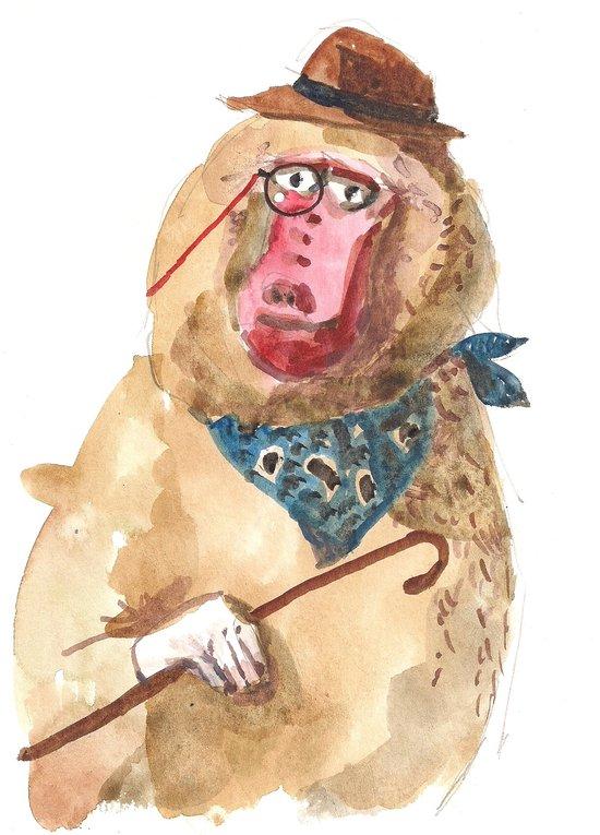 Suave Baboon Canvas Print