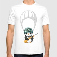 Commando Mens Fitted Tee White SMALL