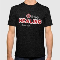 Free Healing Mens Fitted Tee Tri-Black SMALL