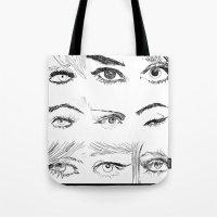 Many Eyes Tote Bag