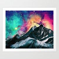 Darling Mountains Art Print