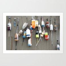 Snowy Buoy Art Print