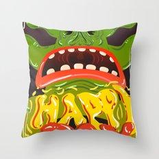 Happy Joy Throw Pillow
