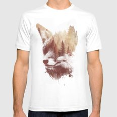 Blind fox SMALL Mens Fitted Tee White
