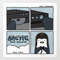 Arctic Gaming Art Print