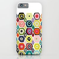 iPhone & iPod Case featuring hex diamond white by Sharon Turner