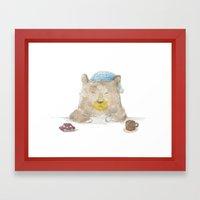 Grumpy Bear Framed Art Print