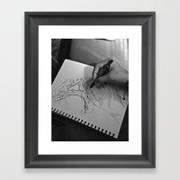 A Sketch Amongst Many Framed Art Print