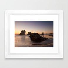 Bandon Sunset 2 Framed Art Print