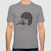 Mynah the Girl Mens Fitted Tee Athletic Grey SMALL